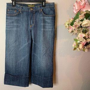 David Kahn Cuffed Capri Jeans